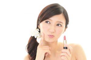 asian choosing makeup