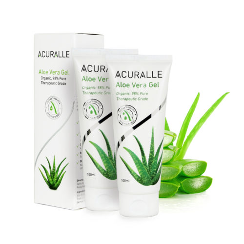 Acuralle Pure Organic and Natural Aloe Vera Gel Twin Pack