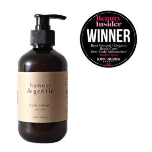 honest & gentle anti-itch moisturising body lotion for sensitive skin 250ml