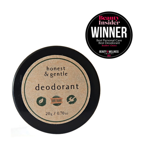 honest & gentle deodorant original for sensitive skin no baking soda 20g
