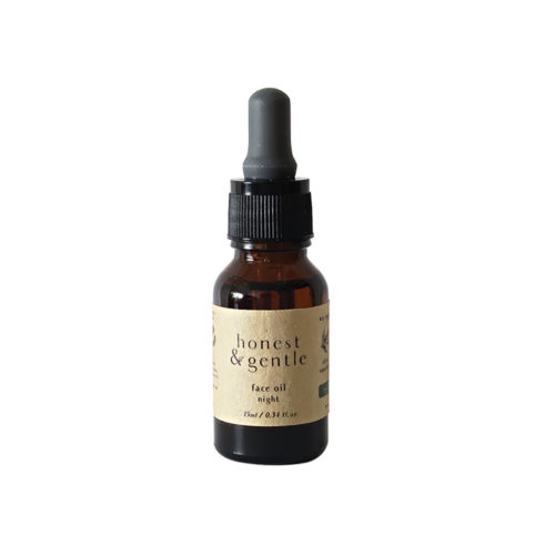 honest & gentle face oil night for sensitive skin 15ml
