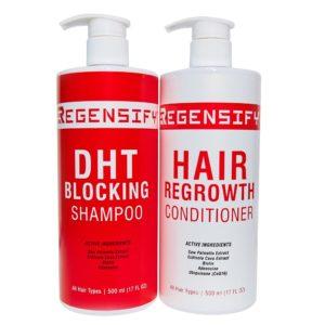 REGENSIFY DHT Blocking Shampoo 500 ml + Hair Regrowth Conditioner 500 ml [Professional Bundle Set]
