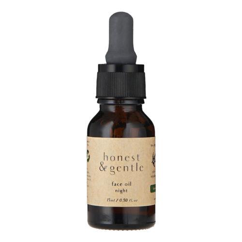 honest & gentle night face oil for sensitive skin 15ml