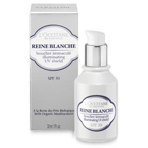L'OCCITANE REINE BLANCHE ILLUMINATING UV SHIELD SPF50 Sunscreen
