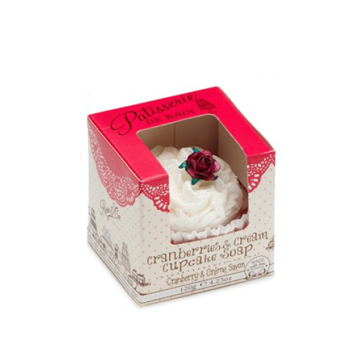 Patisserie De Bain Cranberries Cupcake Soap