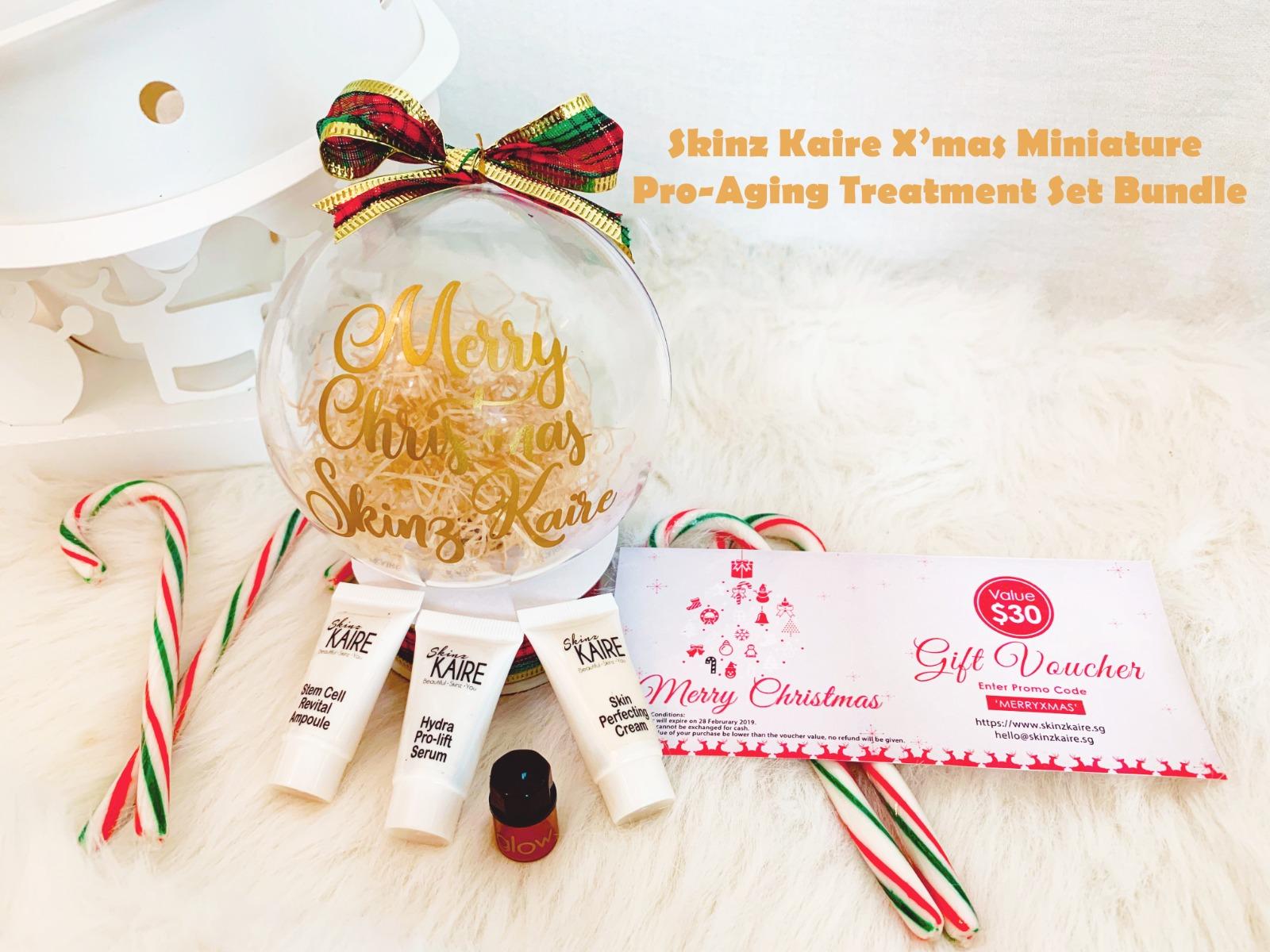 Skinz Kaire's Xmas Miniature Pro-Aging Treatment Set Bundle