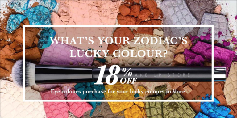 Wear Your Lucky Color Through Your Eyes: Get 18% OFF on the Make Up Store Eyeshadows!