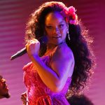 stage makeup, celebrity makeup, Rihanna
