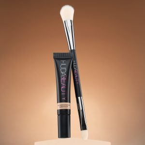 makeup products with duo brush