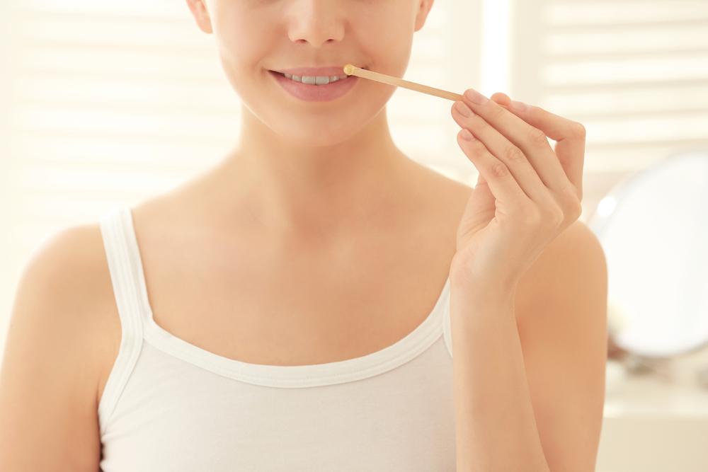 waxing facial hair removal