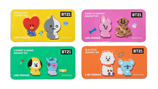 Innisfree x BT21 Magnet Set
