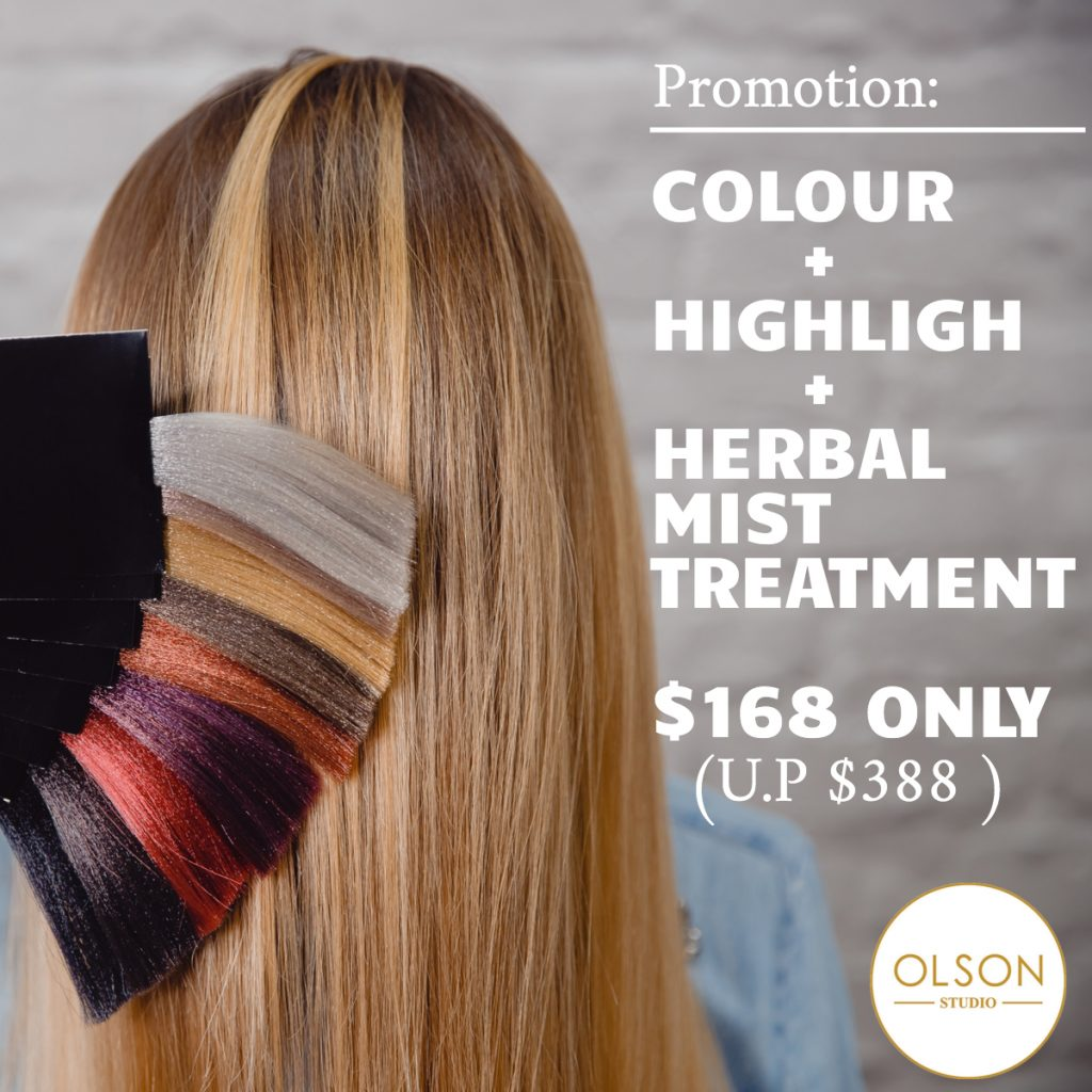 Olson Hair Studio Color promotion